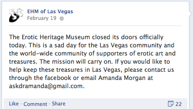 Erotic Heritage Museum closes in Las Vegas