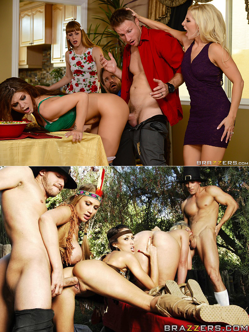 Brazzers Thanksgiving porn scenes