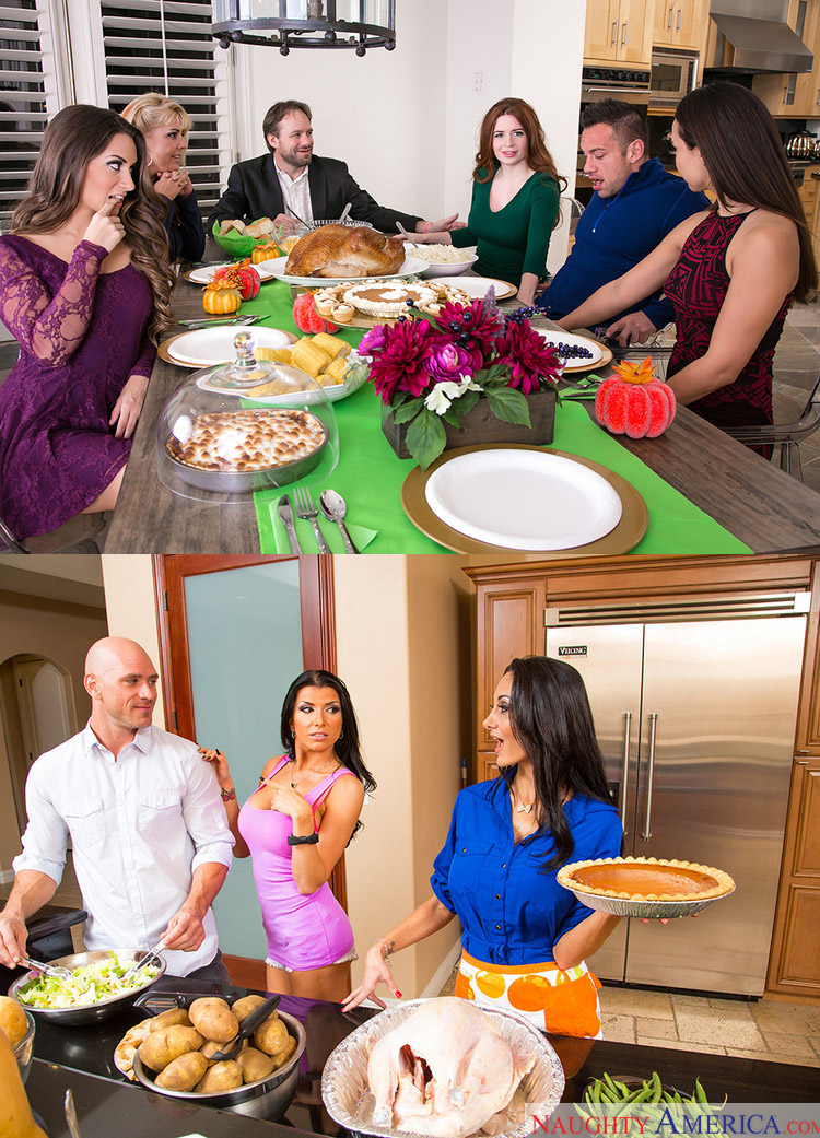 Naughty America Thanksgiving porn scenes
