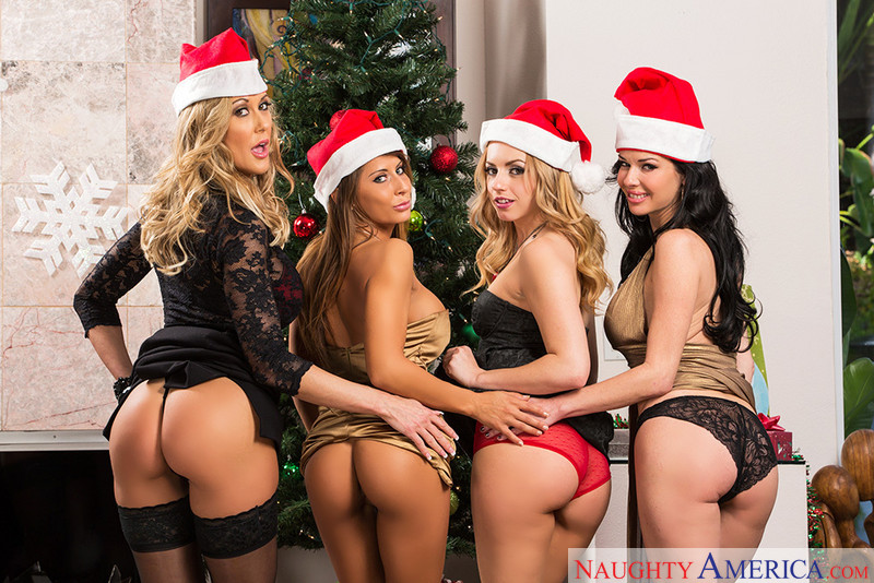 Madison Ivy, Brandi Love, Lexi Belle, and Veronica Avluv Naughty Office