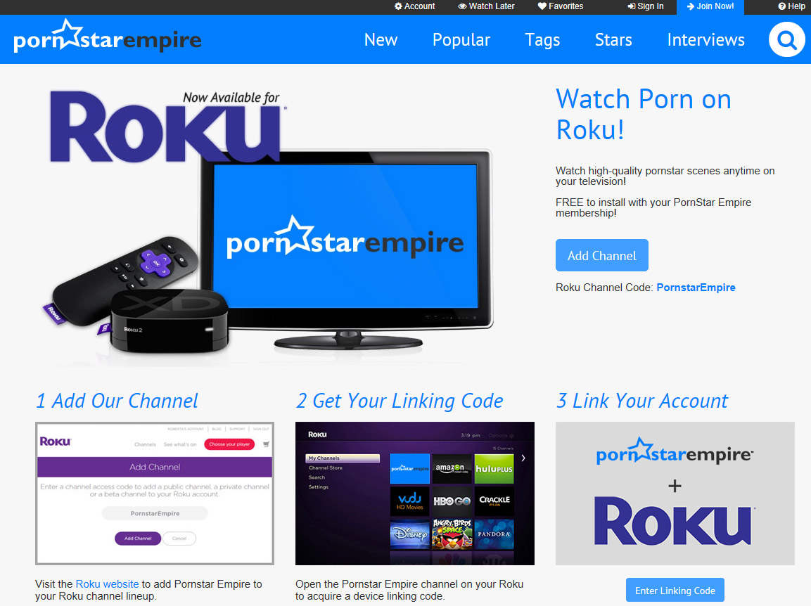 Porn on Roku